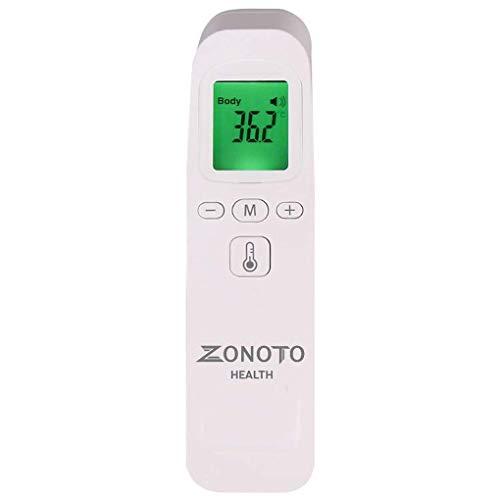 Fieberthermometer kontaktlos Stirnthermometer Zonoto Health infrarot digitales Thermometer für Babys, Erwachsene, mit dreifarbiger LCD-Display Temperaturmessgerät Temperaturmesser Fieberalarmsystem