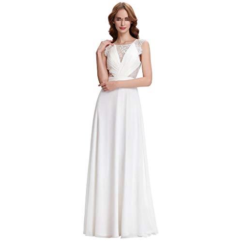 LILANPING Brautkleid - Europa und Amerika-reizvolle transparente Spitze-Kleid Oberkörper Thin Thin Chiffon Damen Brautkleid (Size : S)