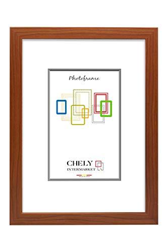 Chely Intermarket, Marcos Diplomas A3 Pared (Cerezo) MOD-254, Hecho Madera sólida, Ancho de Bastidor 1,20 cm con Acabado Elegante, Especial para títulos universitarios (254-A3-0,55)