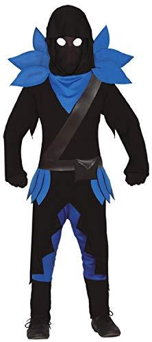 Blauer, schwarzer dunkler Kämpfer, Gaming-Kämpfer, Jungen, Teenager, Halloween-, Karnevalskostüm 7 - 14 Jahre