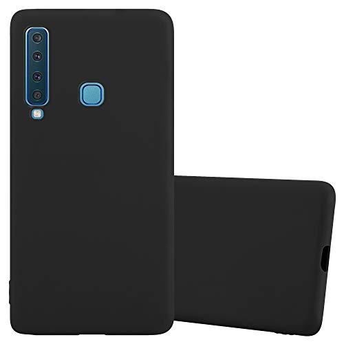 Cadorabo Hülle für Samsung Galaxy A9 2018 in Candy SCHWARZ - Handyhülle aus flexiblem TPU Silikon - Silikonhülle Schutzhülle Ultra Slim Soft Back Cover Hülle Bumper