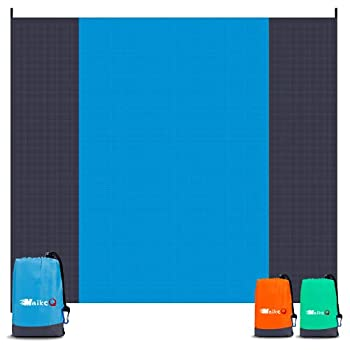 """MaikcQ Sand Free Beach Blanket Sandproof Waterproof Beach Mat 79""""x83"""" Suitable for 4-7 Adults Outdoor Picnic Mat Quick Drying Compact & Durable Picnic Blanket for Travel Hiking Camping Blue"""