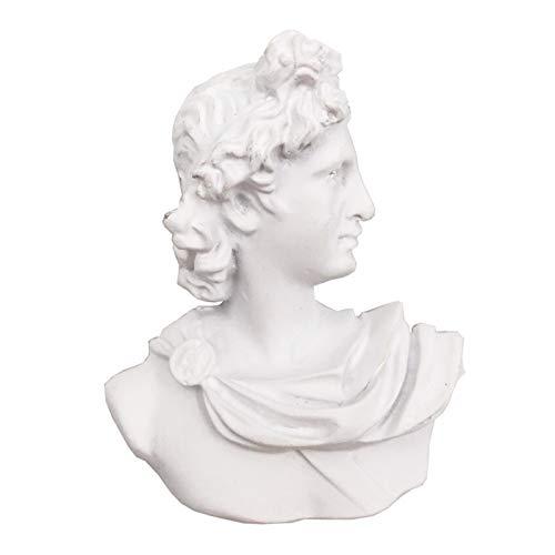 Lmanes de refrigerador 3 unids Creativo Retrato Escultura Frigorífico Imanes Art Beethoven Refrigerador Etiqueta Imanes para pizarras Blancas (Color : White)