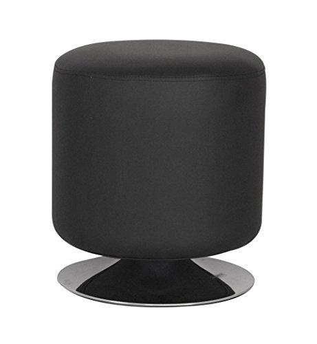 SixBros. Sitzwürfel Sitzhocker Hocker Gepolstert Schwarz - M-60351/2142