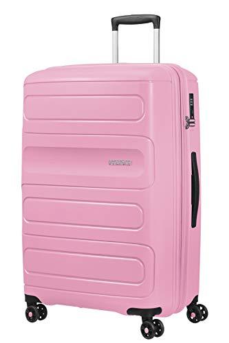 American Tourister Sunside - Spinner L Erweiterbar Koffer, 77 cm, 106/118 L, Rosa (Pink Gelato)
