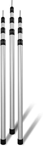 normani Outdoor Sports Aluminum Teleskop Zeltstange Aufstell-Stange Sützstange Verstellbar von 76-180 cm, 94-240 cm oder 116-300 cm Farbe 3 Stück Größe 94-240 cm