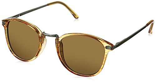 A.J. Morgan Unisex-Adult Castro Sunglasses, Amber, 49 mm