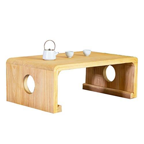 Tatami Couchtisch Japanischer Erker-Tisch Einfacher Antiker Kleiner Teetisch Chinesischer Guoxue-Tisch (Color : Wood Color, Size : 80 * 50 * 30cm)