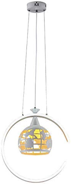 BDYJY Eisen Restaurant Kronleuchter Einzelkopf Nach Moderne Einfache Led Wohnzimmer Lampe Kreative Erde Art Bar Mode Kronleuchter