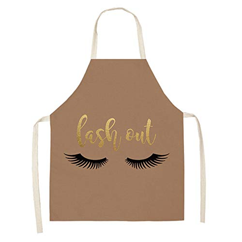 Bronzing Eyelash Pattern Küchenschürze, Purine Bronzing Eyelash Pattern Küchenschürze Home Cooking Baking Cleaning Schürzen Lätzchen Chocolate