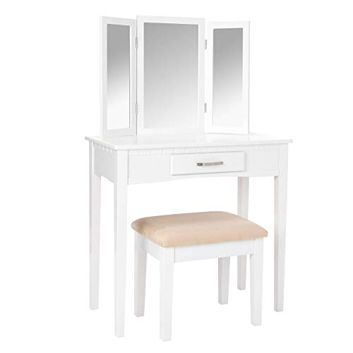 Frenchi Home Furnishing 2 Piece Home Furnishing Set Vanity with Stool