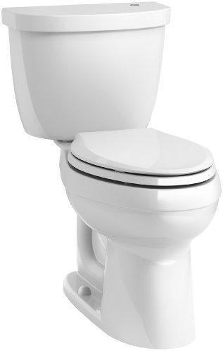 KOHLER K-6418-0 Cimarron Touchless Comfort Height 2-piece 1.28 GPF Elongated Toilet with AquaPiston Flushing Technology, White