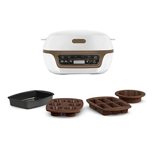 Tefal Cake Factory Machine Intelligente à gâteaux, Appareil, Cuisson, Conviviale, Pâtisserie, Machine à pain, Muffins, 4 Moules inclus, 5 Programmes, Compatible moules Crispybake KD802112