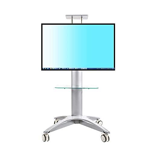 FACAZ Soporte para TV de aleación de Aluminio, Soporte para TV móvil Carro de elevación Libre 32'-65' Soporte para Carrito de TV de Plasma LCD LED con Soporte para cámara AV