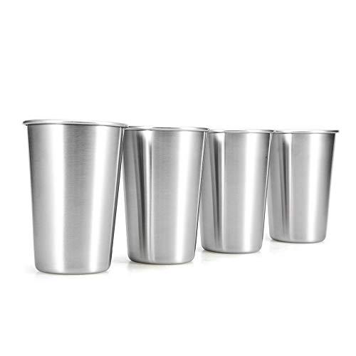 Nukana 4 STÃœCKE Edelstahl Tassen 500 ML Reise Bier Becher Camping Picknick Saft Wasser Milch Tasse Kaputte Beständig Tasse