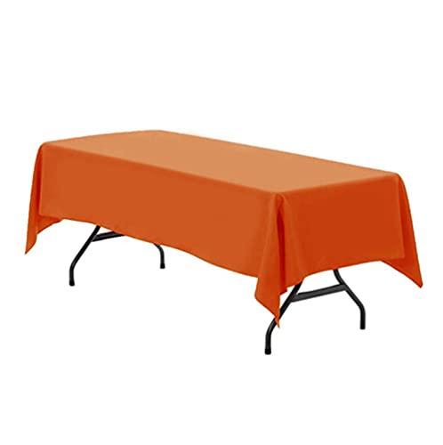 Sonze Manteles Antimanchas Teflon,Rectangular Borla Diseñada Mantel,Mantel de Buffet Surprise Hotel, Mantel de Fiesta de cumpleaños-Naranja_1.6 x 2M