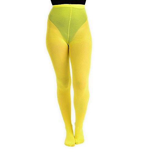 Pantys amarillos para mujer de cintura alta