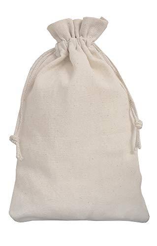 5 Leinensäckchen, Leinenbeutel mit Baumwoll-Kordel, Geschenkverpackung aus Leinen-Stoff (40 x 30 cm)