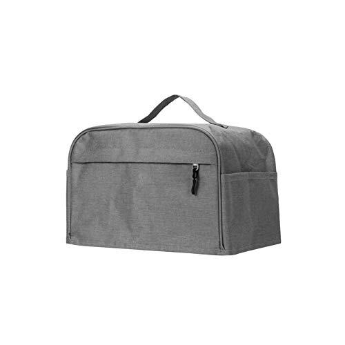 POHOVE Cubierta de tostadora de dos/cuatro rebanadas con bolsillo,Protector de utensilios de cocina,Universal de lino de algodón a prueba de agua lavable Tostadora