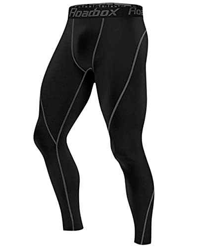 Roadbox Compression Pants Men Thermal Base Layer Bottoms Outdoor Sports Tights Leggings