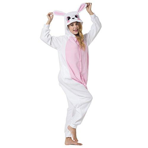 Katara-(10+ Modelos) Kigurumi Pijamas Disfraz de Animal Halloween Carnaval, Adultos, Color conejo rosa, Talla 145-155cm (1744) , color/modelo surtido