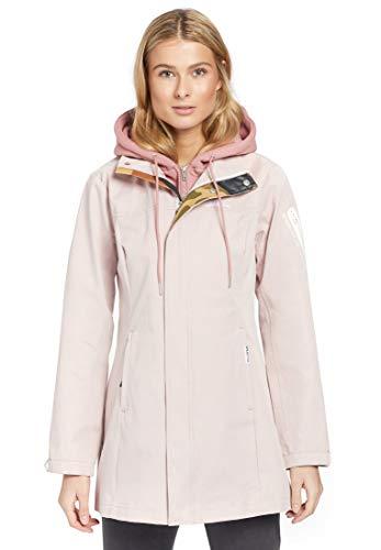 khujo Damen Jacke BOLKA with Inner Jacket Übergangsjacke mit Kapuzeneinsatz aus Sweat