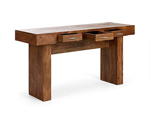 MMR Furnitures Sheesham Wood Study Table with 3 Drawers for Home Writing Office Desk (Natural Finish)