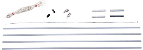 Stansport Fiberglass Pole Replacement Kit - Backpack Tents - 7 Mm, Multi, One Size