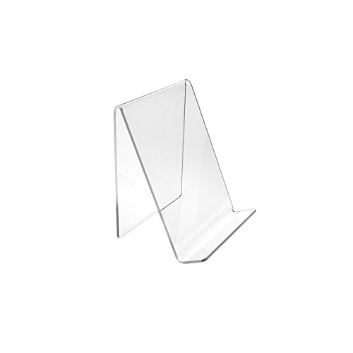 Deluxe 4.5 x 5 Inch Medium Clear Acrylic Book Easels Premium Thick