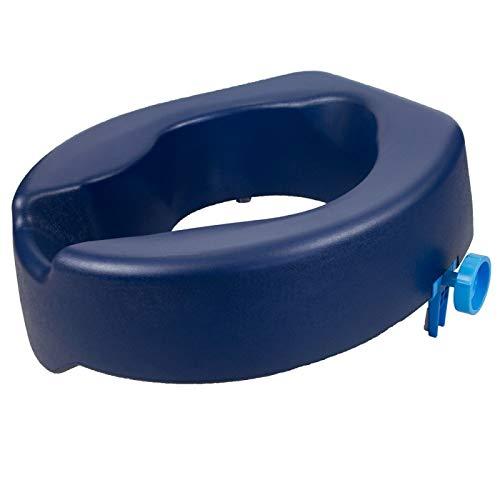 Mobiclinic, Toilettensitzerhöhung, Río, Europäische Marke, WC Sitzerhöhung, Toilettenaufsatz für Senioren, Toilettenhilfen, extra stabile, 14 cm, Blau