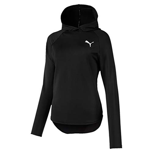 PUMA Damen Active Hoody Sweatshirt, Black, L