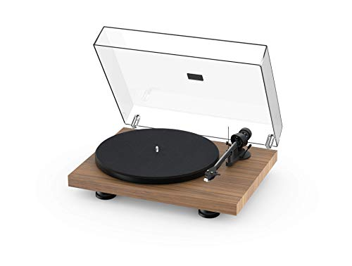 Pro-Ject Debut Carbon EVO, Audiophile Turntable with Carbon Fiber tonearm, Electronic Speed Selection and pre-Mounted Sumiko Rainier Phono Cartridge (Satin Walnut)