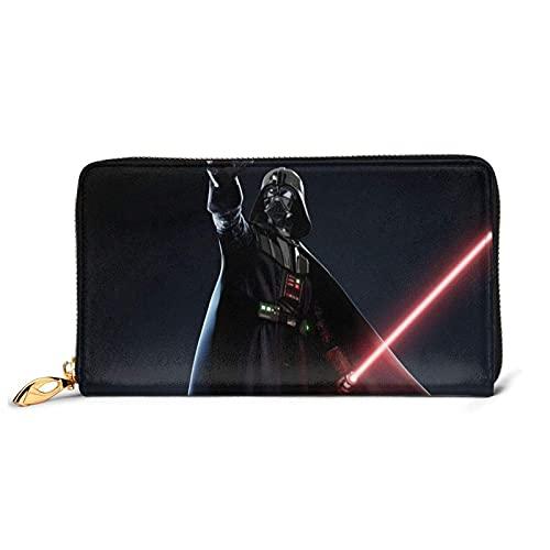 Hdadwy Darth Vader Geldbörsen für Damen Herren Exquisite Advanced Leather Zip wasserdichte Multifunktionale Geldbörse Clutch Bag