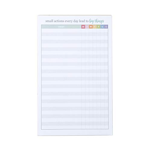 Erin Condren Designer Notepad - Daily Habit Tracker Notepad That Tracks Up to 26 Habits, 7 Days a Week. Portable to Take on Travel to Track Habits. Color Coded Days