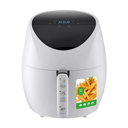 LIUHUI Air Fryer, Smoke-free Air Fryer,includes Basket Divider, One-touch Digital Controls, Easy Presets, Wattage Control,360°hot Air Heating,easy To Use,1500W