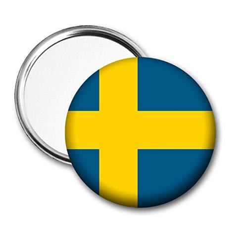 Zweden Vlag Pocket Spiegel voor Handtas - Handtas - Gift - Verjaardag - Kerstmis - Stocking Filler - Secret Santa