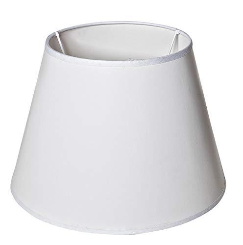VBS Lampenschirm rund weiß blanko Ø 27,5 cm (unten) / 17,5 cm (oben) Papierschirm zum Bemalen und Bekleben