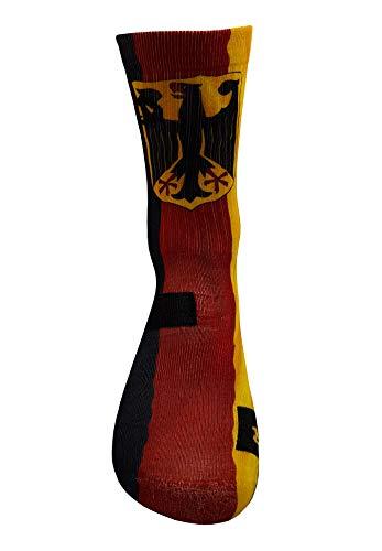 Bandera de Alemania Calcetines con Diseño Motivo Hecho a Mano Calcetines de impresión 3D para Baloncesto Voleibol Tenis Fitness Golf Ciclismo Balonmano Respirable Coolmax Calcetines deportivos (47-50)
