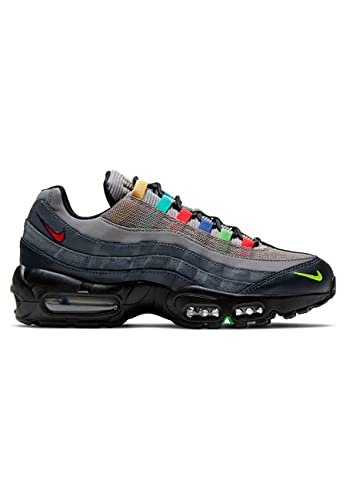Nike W Air MAX 95 SE, Zapatillas para Correr Mujer, Lt Charcoal Univ Red Black Lemon Venom Scream Green Obsidian, 40 EU