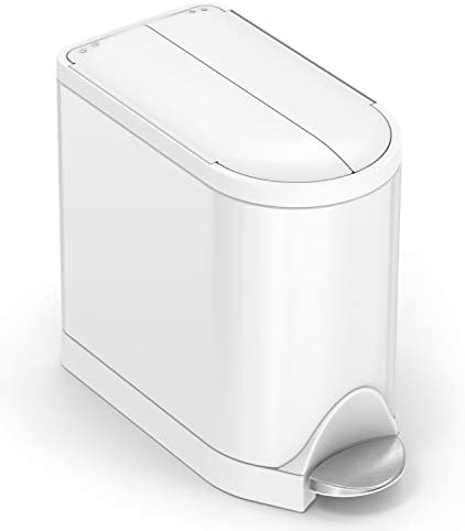 Best simple human stainless steel trash can target for bathroom