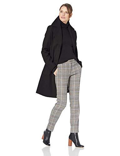 Calvin Klein Women's Single Breasted Spread Collar Wool Jacket, BLACK, X-Large