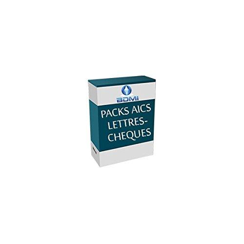 Logiciel d'edition de lettres cheques Pack AICS