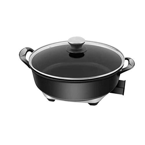 DYXYH Round électrique Hot Pot, à fondue électrique Grill, Mini portable multi fonction des ménages non-Stick Hot Pot Friture Fried Marmite, 5.5L grande capacité