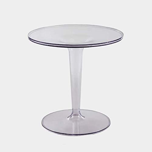Tavolino da caffè, Piccolo Cerchio Trasparente Semplice Nordico, Tavolino in Acrilico, Tavolino da caffè Mobile/Tavolino da tè Pomeridiano (Colore: A)