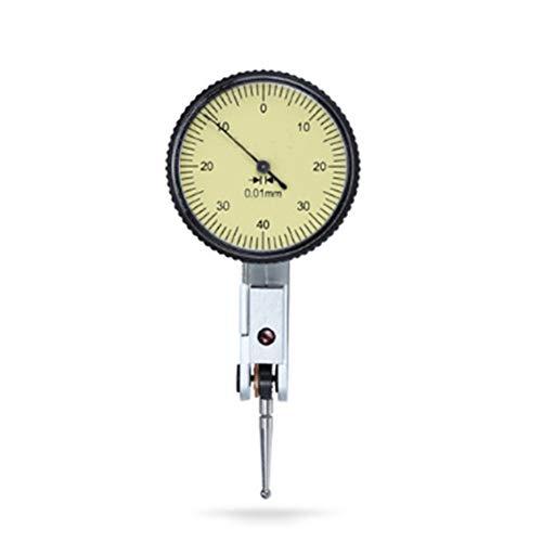 Wijzerplaat Test Indicator, Hendel Type Indicator met Opslag Case, Precisie Metrisch Percentage Gage Meting Tool voor 240 Graden Bidirectionele Meting