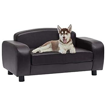 vidaXL Canapé pour Chien Marron 80x50x40 cm Similicuir Sofa pour Chat Animaux