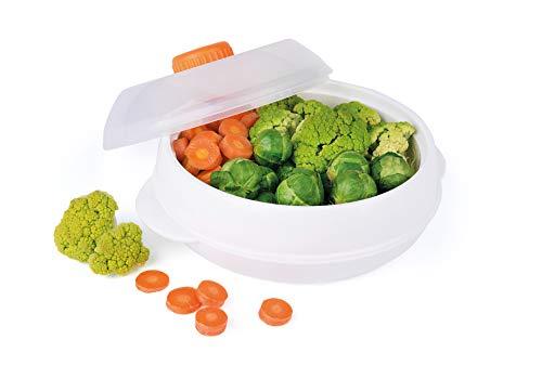 Excelsa Quick Cook Cuiseur Vapeur pour Micro-Ondes, polypropylène, Blanc, Diamètre: 18 cm