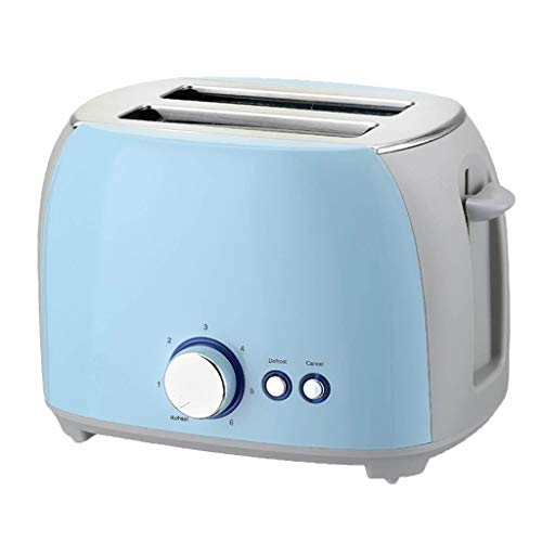 ATRISE 2-Slice Toast Toaster Compact Plastic Extra Wide Slot Stainless Steel Toaster Keep Warm Defrost Slot Toaster