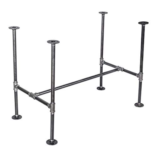 PIPE DÉCOR Industrial Table Rustic Pipe Kitchen Metal Frame 3/4 Inch Pipe Base 30