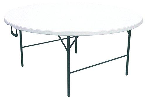 Mesa redonda plegable XL de resina HDPE blanca 160x (h) 74 cm